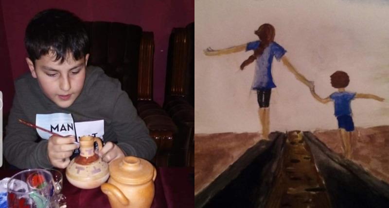 სოციალურ ქსელში ბათუმის ტრაგედიის დროს გარდაცვლილი 12 წლის  დათა შომახიას ნამუშევრები ვრცელდება